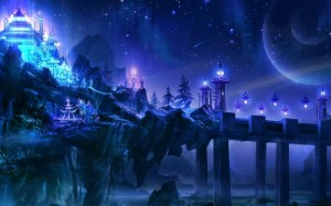 fantasy landscapes castles night purple fantasy art magic 1920x1200 wallpaper_www.wall321.com_94